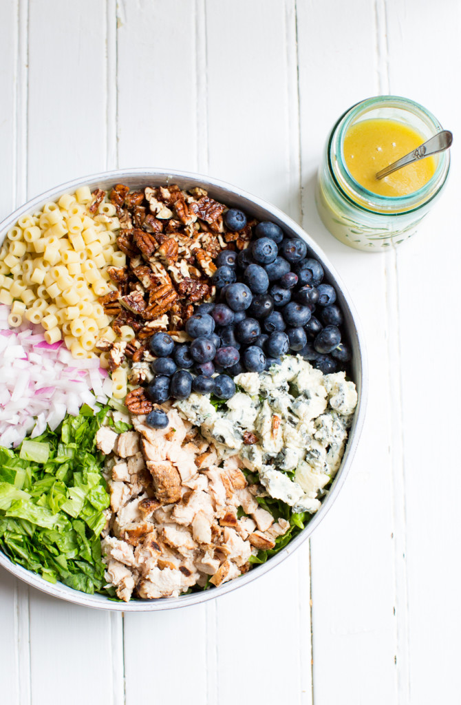 Blueberry Chicken Chopped Salad » TableandDish