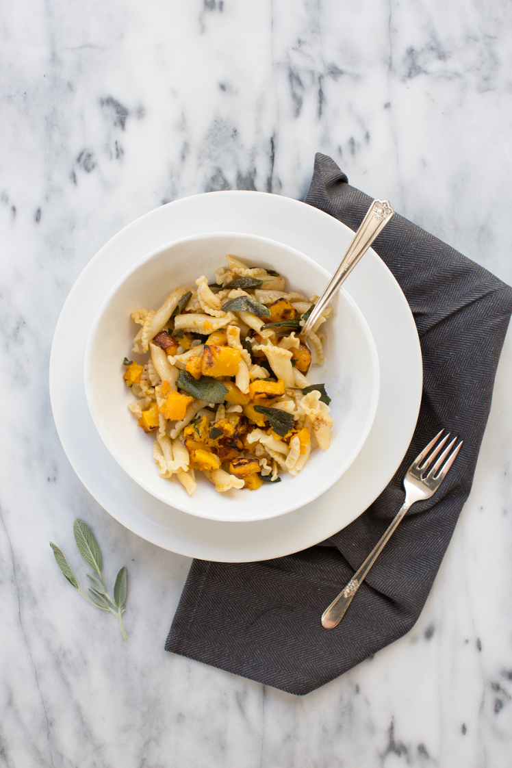 Butternut Squash Brown Butter and Sage Pasta » TableandDish